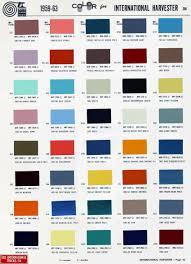 1959 63 international color chart cars pinterest color