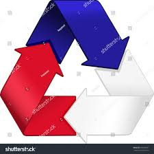 French Flag Pictures French Flag Merged Recycling Graphic Stock Vector 206330581