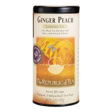 ginger amazon com the republic of tea ginger peach black tea