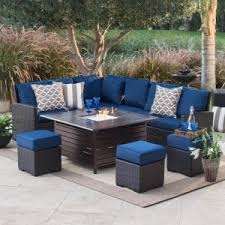 Outdoor Furniture With Fire Pit by Fire Pit Patio Sets A Combo Backyard U0026 Garden Hayneedle