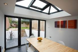 new extension with bifold doors and skylight veranda pinterest