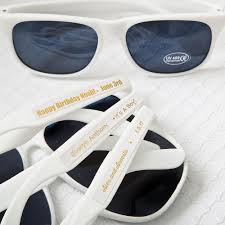 wedding favor sunglasses 40 white sunglasses with gold metallic stickers wedding