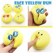 toast emoji squishyfun jumbo emoji yellow bun squishy dotdotbang