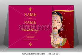 henna invitation indian wedding invitation card templates women stock vector