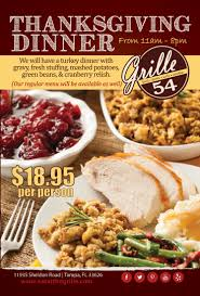 grille 54 citrus park will be open thanksgiving day 2013 ta