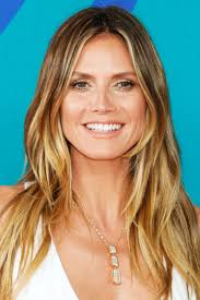 celebrity hairstyles heidi klum long bob hairstyle applying