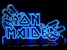 Neon Desk Lamp Iron Maiden Hands Led Desk Lamp Night Light Beer Bar Bedroom Signs