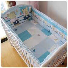 Side Bed Crib Promotion 6pcs Baby Bedding Set For Cot And Crib Waterproof