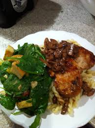 marsala home chicken marsala spinach salad home made croutons closer to lola