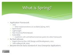 building enterprise web applications with spring 3