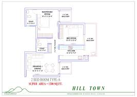 2 bhk 1200 sq ft apartment for sale in supertech hill town at rs