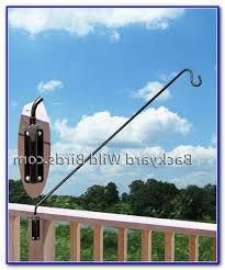 bird feeder pole deck clamp decks home decorating ideas