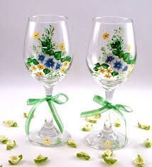 Beautiful Wine Glasses Beautiful How To Paint Flowers On Wine Glasses 53 In With How To