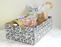kitchen gift basket ideas vikalpah diy baskets 2 ways from shipping boxes