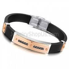 health bracelet images Titanium with silicone magnetic energy health men 39 s bracelet c703 jpg