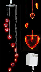valentines day lights heart decorations heart shaped lights led
