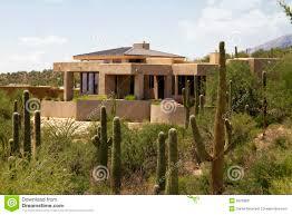 Home Landscape Arizona Golf Course Scenic Landscape And Home Stock Image Image