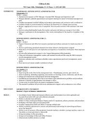 senior office administrator resume sles velvet