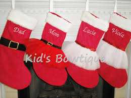 stockings monogrammed classic red christmas holiday tutu stocking