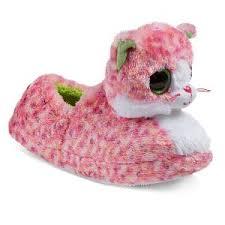 girls u0027 ty beanie boo whiskers dog loafer slippers grey