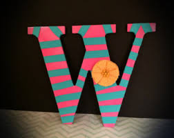 Home Decor Initials Letters Large Letter W Etsy