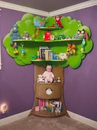 tree bookshelf this is simple enough then could add leaves