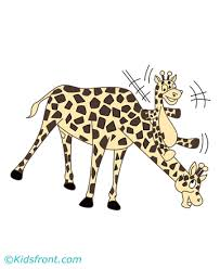 baby giraffe coloring pages kids color print