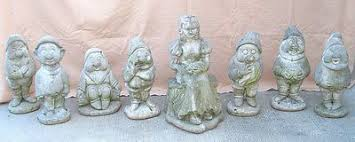 8 disney concrete cement snow white seven dwarfs garden statues