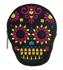 sugar skull flower coin purse from loungefly daydream