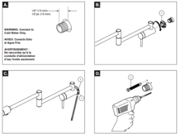 Kitchen Sink Installation Instructions by Annaba Wall Mounted Double Joint Kitchen Sink Faucet All In One