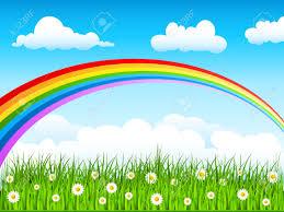 rainbow in the sky clipart clipartxtras