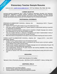 Resume Sample For Teaching by Elementary Teacher Cover Letter Sample U0026 Writing Tips Resume