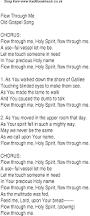 pta resume sample flow through me christian gospel song lyrics and chords