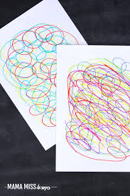 scribble art rainbow fish mama miss