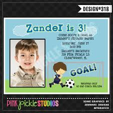 soccer player personalized party invitation