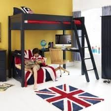 High Sleeper With Futon Bunk Bed With Desk And Futon Foter
