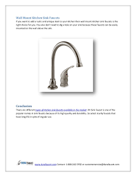 kitchen faucet types types of kitchen sink faucets