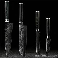 Japanese Kitchen Knives For Sale D058 Findking Japanese Damascus Knives Set 8 Inch Chef Knife 7 5