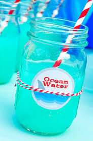 Totally Awesome Party Punch Ideas Ocean Water Blue Punch Recipe Blue Punch Shark Party And