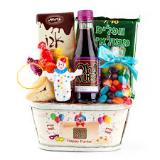 mishloach manot baskets colorful clown purim basket popular in purim baskets purim