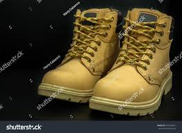 pair mens brown steel toe fashionable stock photo 447304861