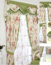 Green And Beige Curtains How To Make Shabby Chic Curtains Pickndecor