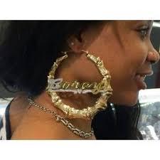 Personalized Name Earrings Personalized Name Big Gold Hoop Earrings