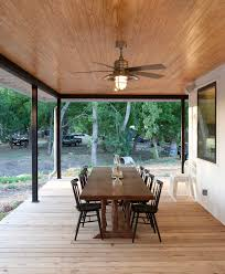 Covered Porch by Bladeless Ceiling Fan Porch Farmhouse With Ceiling Fan Covered