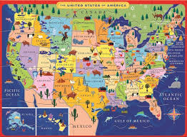 Carry Usa Map by Amazon Com Eeboo United States Usa Map Puzzle For Kids 20 Pieces