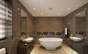 Recessed Light Bathroom Recessed Lighting For Modern Bathroom With Large White Clawfoot
