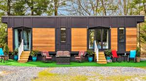 luxury park model tiny house sleek modern feel small home design