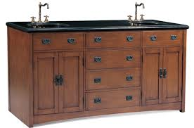 Furniture Style Vanity 72 Inch Mission Style Double Sink Vanity With Black Granite