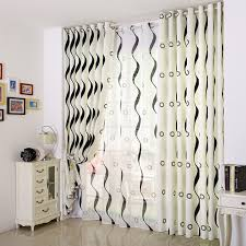 Black And White Stripe Curtains Custom Black White Striped Curtains In Poly Cotton Fabric