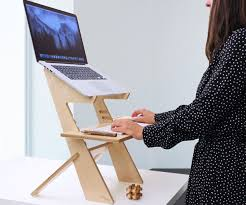 Standing Desk Laptop Wooden Standing Laptop Desk